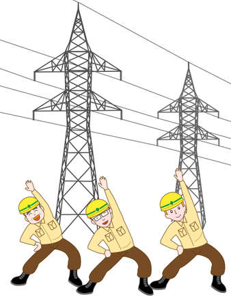 switchboard: Construction of a tower at the exercise