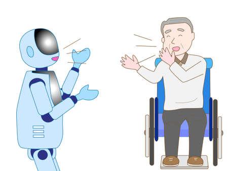 elderly care: Become a companion for elderly care robot