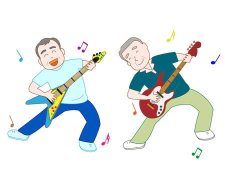 pflegeversicherung: Gespielt E-Gitarre f�r �ltere Menschen