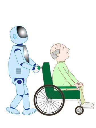 Robots qui prennent en charge les personnes âgées