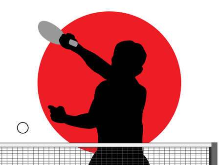 Silhouette of table tennis