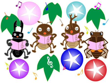 chorus: Insects of summer concert Illustration