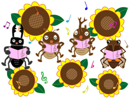 fairyland: Insects of summer concert Illustration