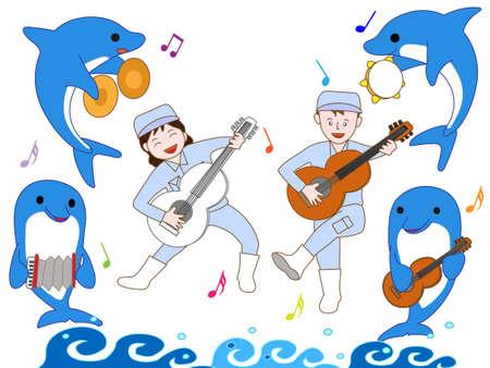 Cymbals: Concert of the Aquarium Illustration