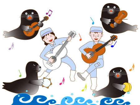 recital: Concert of the Aquarium Illustration