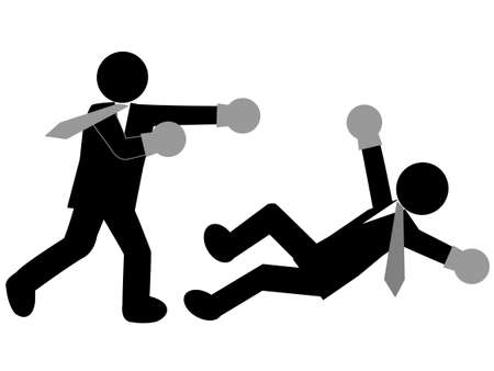 rookie: Corporate boxing Illustration
