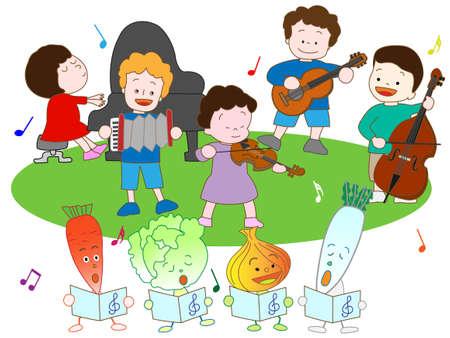 Vegetables and children's Music Festival
