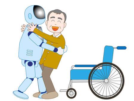 노인을 돌보는 로봇