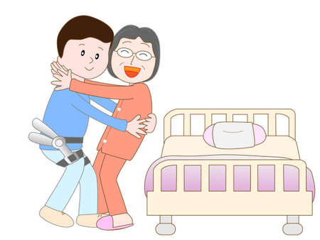 caregivers: Wearable robot to move the elderly caregivers