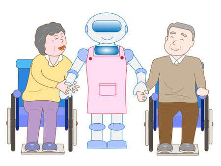 노인 간호 로봇 스톡 콘텐츠 - 59990630