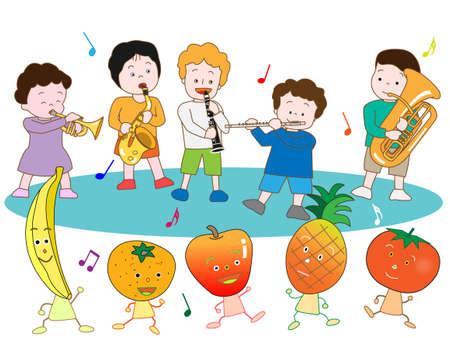 symphonic: Children with fruit