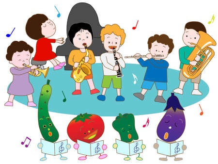nursery tale: The Festival of children and vegetables