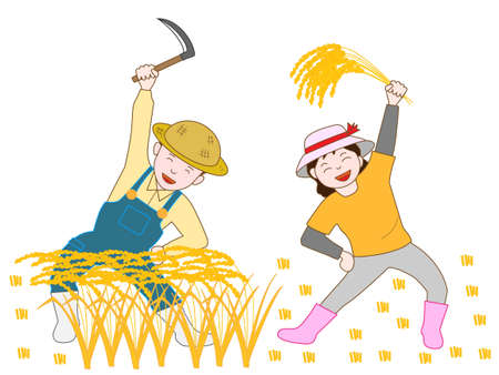 paddy field: The joy of harvesting