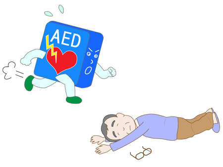 AED 救命措置  イラスト・ベクター素材