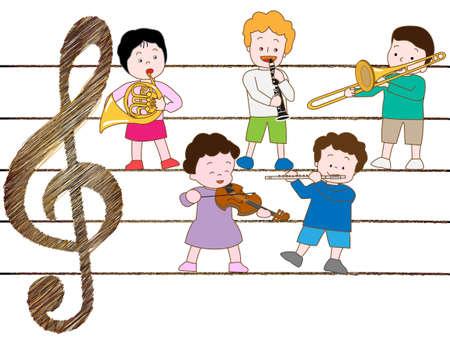 concert voor kinderen Stock Illustratie