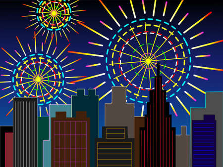 yukata: Fireworks downtown