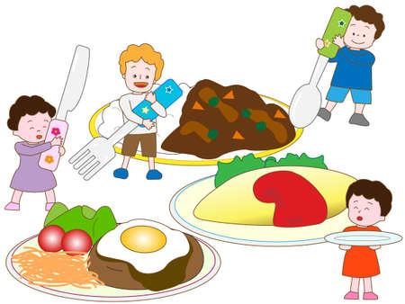 De Japan kinderen favoriete voedsel.