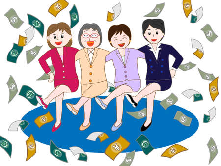 foreign currency: Good teamwork in business