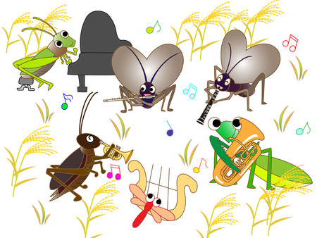 beat the competition: Concert of insects Illustration