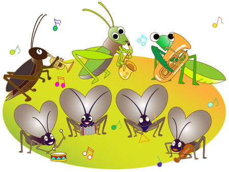 subtilis: Concert of insects Illustration