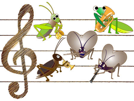 symphonic: Concert of insects Illustration