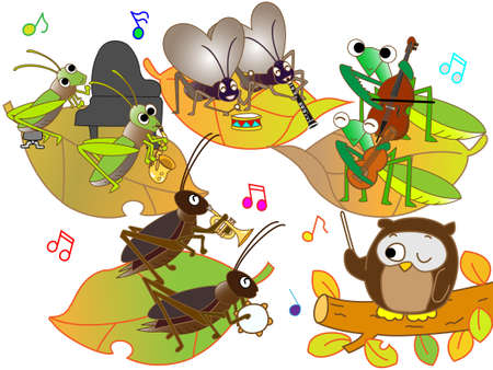fairyland: Concert of insects Illustration