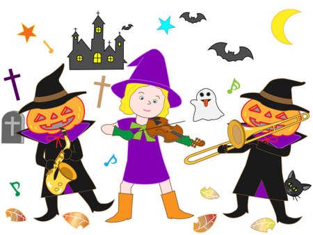 cute ghost: Halloween concert