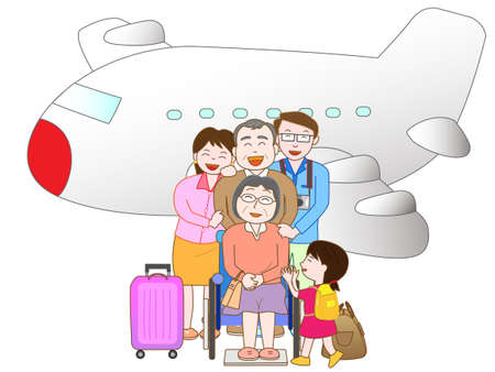 Air travel with family