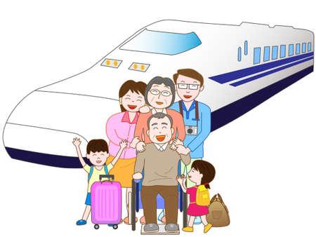 Bahnreisen mit der Familie Standard-Bild - 61266923