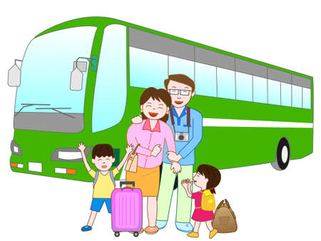 amusement park rides: Bus travel in the family
