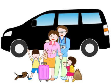 hot wife: Road trip with my family Illustration