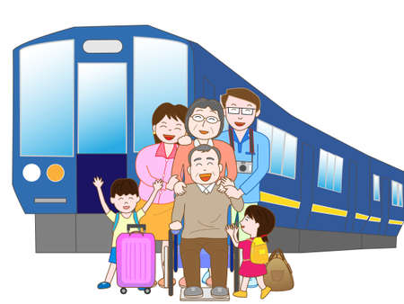 Train travel with family