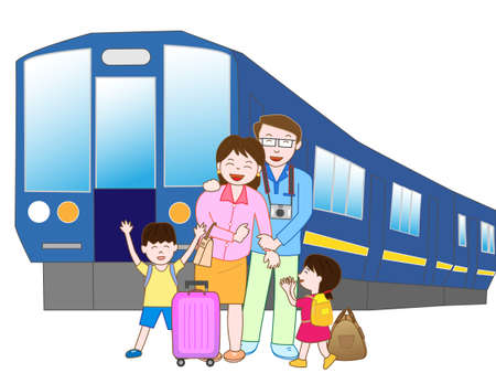 hot wife: Train travel with family