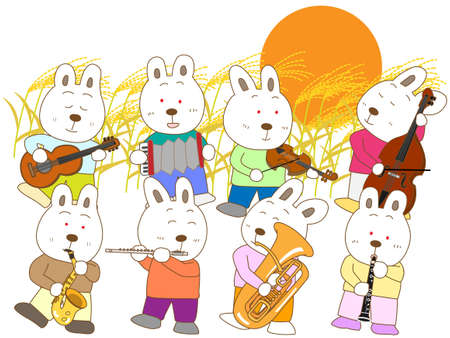 harvest moon: Rabbit full moon concert Illustration