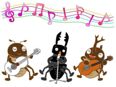 brass band: Concert of insects Illustration