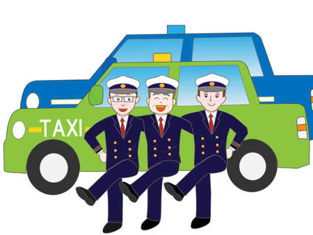 Exercise of the taxi driver Illustration