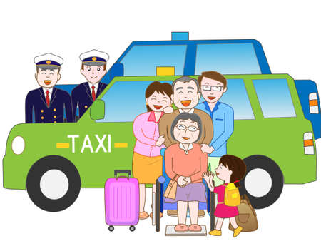 long weekend: Family travel offers a taxi Illustration
