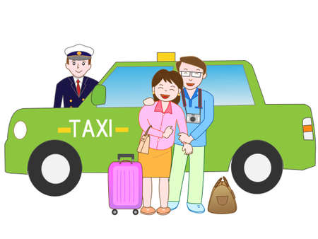 Taxis are available to travel a couple