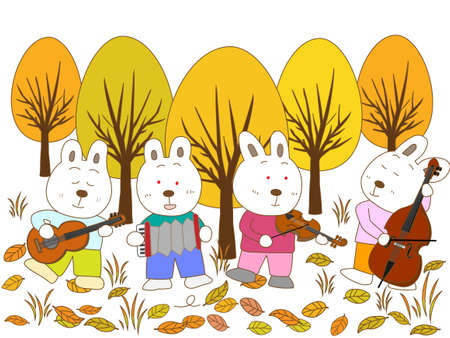 fairyland: Rabbit fall concert Illustration