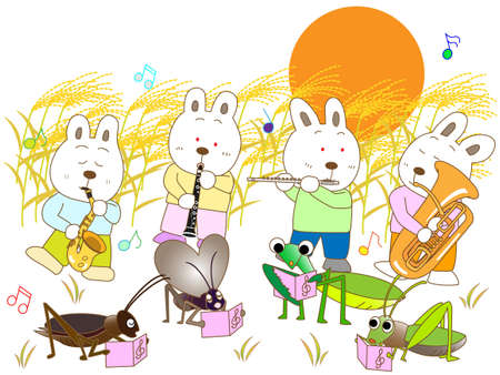 symphonic: Insects and a full moon concert Illustration
