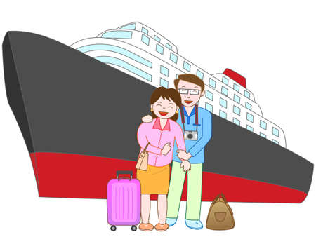 hot couple: The couple travel by ship