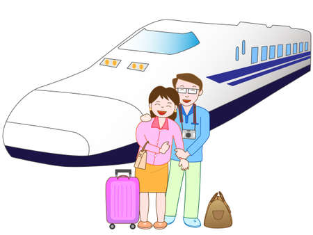 homecoming: Travel by rail couple