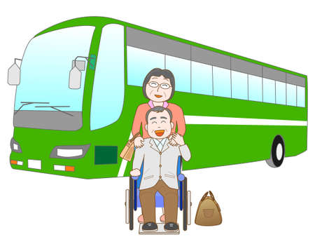 Senior couple to travel by bus