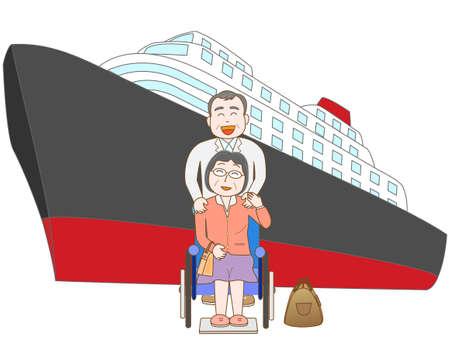 senior couple: Senior couple to travel by ship
