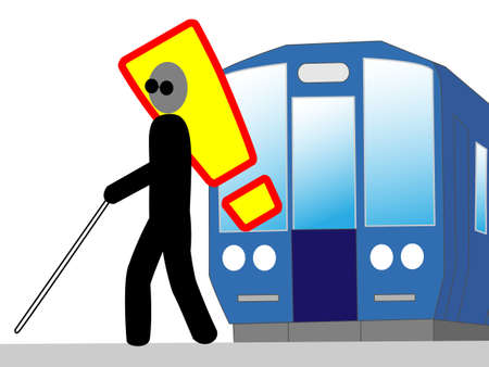 visually: Protect the visually impaired on the platform
