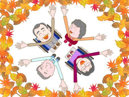 秋に高齢者を喜ばせる