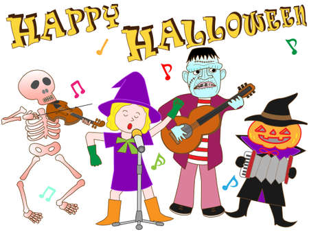 Halloween concert Stock Vector - 62215185