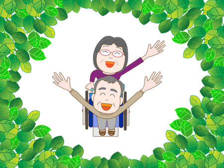 wakaba: To take a walk in the woods with the elderly Illustration