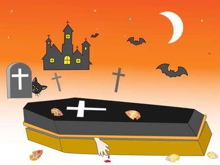 ghost house: Halloween horror