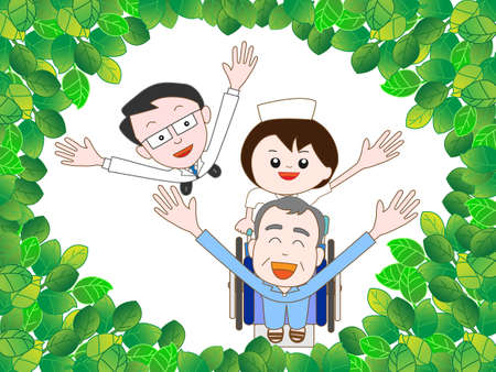 wakaba: To take a walk in the woods with the elderly hospitalized patients